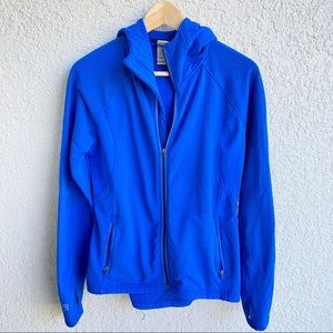 Avalanche waffle textured fleece lined zip up
